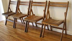 Wood Folding Chairs Vintage Wood Folding Chairs Picked Vintage