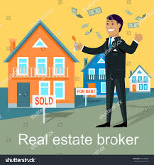 real estate broker design flat real stock vector 346168880