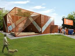 shipping container structure will house socrates sculpture park u0027s