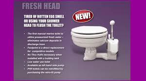 how does a marine toilet work fresh head youtube