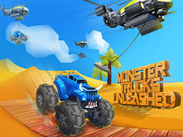 play free online monster truck racing games monster trucks unleashed android apps on google play