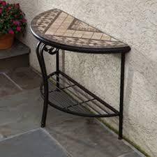 Outdoor Console Table Alfresco Home Bolla Mosaic Outdoor Console Table