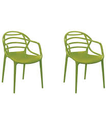 Plastic Furniture Shopping Online India Cello Atria Plastic Chair Set Of 2 Buy Cello Atria Plastic