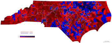 Romney Obama Map File North Carolina 2012 Presidential Election By Voting District