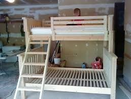 twin over full bunk bed plans queen building twin over full bunk