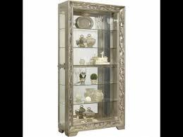 Curio Cabinets Richmond Va Ornate Platinum Curio Cabinet By Pulaski P021559 Home Gallery