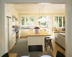 Living Room And Family Room by Backless Counter Stools In Kitchen Contemporary With French Door