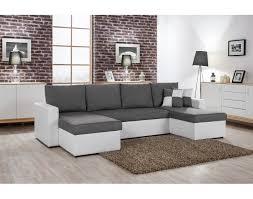 canape angle en u orlando u canapé d angle convertible panoramique blanc et gris