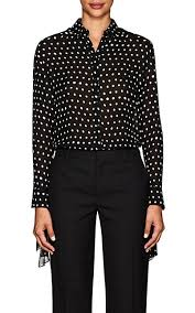 black polka dot blouse laurent polka dot silk blouse barneys york
