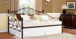 daybed traditional metal full size daybed with trundle decor
