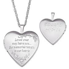 Engravable Heart Necklace Exclusive Range Of Sterling Silver Heart Design Lockets For Men
