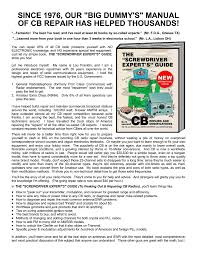 since 1976 our big dummy s manual of cb repair has who sells it