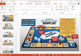board game display template for powerpoint free powerpoint games