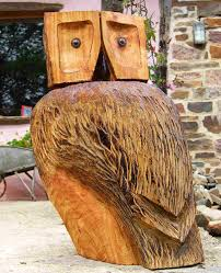 wooden owl garden sculpture find wooden animals wooden