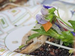 Salad With Edible Flowers - back to organic u2013 sparta lion u0027s mane mushroom salad