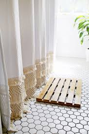 macrame shower curtain diy click through for tutorial for the