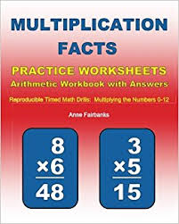 multiplication facts practice worksheets arithmetic workbook with