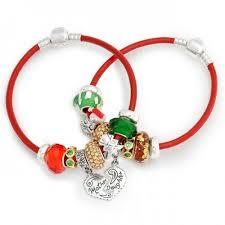 pandora bracelet sets images Mother daughter christmas charm bracelet set pandora compatible jpg