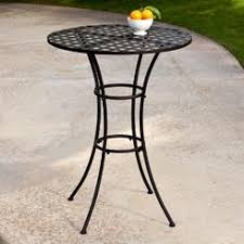 Black Rod Iron Patio Furniture Round Wrought Iron Patio Table