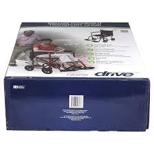 drive medical flyweight lightweight transport wheelchair with