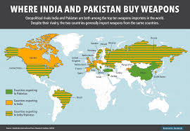 India On The World Map by This Map Shows Which Countries Export Weapons To India And