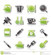 kitchen tools and equipment kitchen gadgets and equipment icons stock image image 34996001
