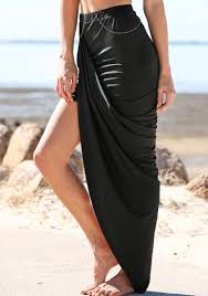 Drape Store Up Asymmetric Skirt Black Lookbook Store