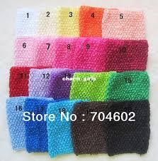 crochet elastic ribbon new arrival 6 inch wide elastic crochet headband for children diy
