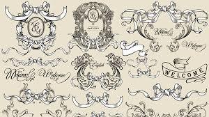 decorative ribbon classical decorative ribbon design vector material my free