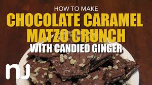 how to make chocolate caramel matzo crunch youtube