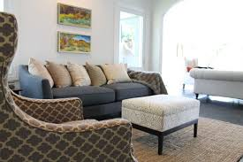 Moroccan Tile Pattern Wing Back Chair And Jute Rug Eclectic - Chairs for family room