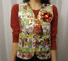 recycled wrapping paper recycled wrapping paper sweater vest allfreeholidaycrafts