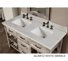 Vanity T Accos 60 Inch Rustic Double Sink Bathroom Vanity Marble Top