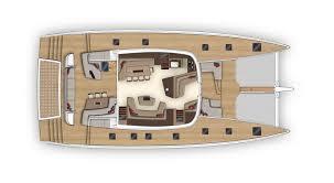 Catamaran Floor Plans by Lagoon Catamarans Seventy 7