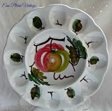 deviled egg serving dish italian ceramic porcelain deviled egg serving dish painted apples
