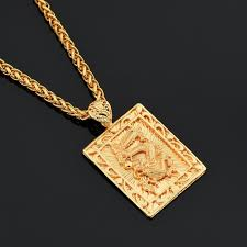 hip hop jewelry necklace images Mcsays hiphop jewelry chinese dragon square card gold color jpg