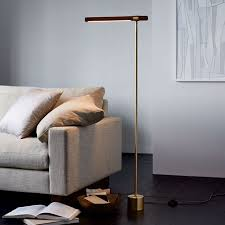 linear wood led floor lamp west elm