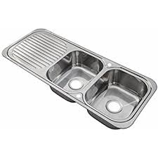 kitchen double sink stainless steel inset kitchen sink double bowl with drainer
