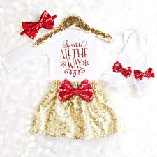 Baby Girl Christmas Outfit Christmas Dress Toddler Christmas Outfit