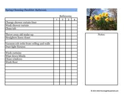 Bathroom Cleaning Checklist Template Bathroom Cleaning Schedule Template 9 Free Word Pdf Documents