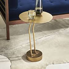 Brass Side Table Modern Side Tables Cb2