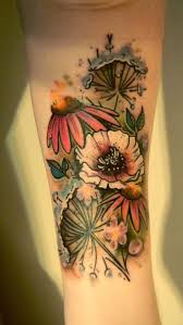 wildflower watercolor tattoos pictures to pin on pinterest
