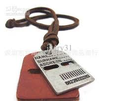 charm leather necklace images Wholesale dog tags for men charms leather necklace gothic jewelry jpg