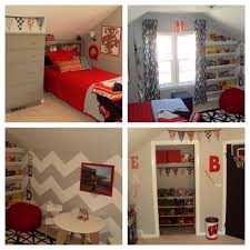 delightful red boy bedroom decoration with grey zigzag bedroom