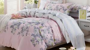 Light Pink Comforter Queen Brilliant Quality Pink Rose Printed Grey Reversible 100 Cotton