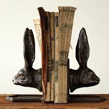 rabbit bookends cast iron rabbit bookends antique farmhouse