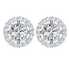real diamond earrings forever carat 18k white gold earring real diamond earring
