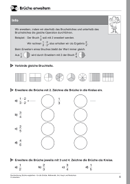 mathe brüche klasse 6 häufigste suchbegriffe lehrerbüro