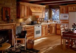 mesmerizing oak unfinished kitchen cabinet with brick wall column