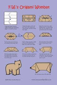 make an origami wombat moo cow fan club